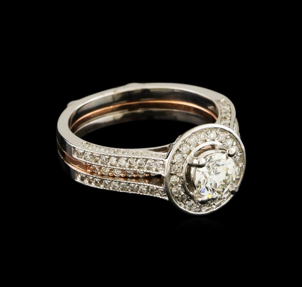 ring auction 128 ctw diamond wedding ring set 14kt rose With wedding ring auction